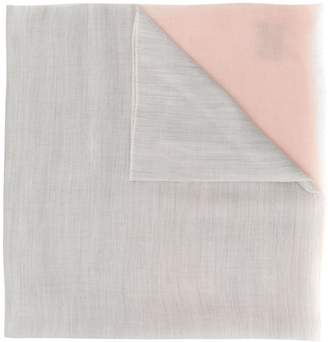 N.Peal contrast end pashmina scarf