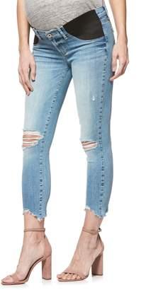 Paige Verdugo Raw Hem Crop Skinny Maternity Jeans