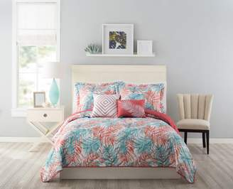 Mainstays Tropical Palm 4PC Twin/Twin-XL Quilt Set