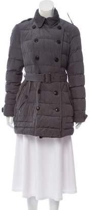 Burberry Double-Breasted Down Coat