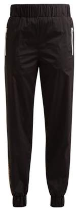 Fendi Logo Trim Track Pants - Womens - Black Multi