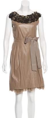 Pollini Leather Mini Dress