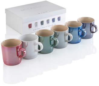 Le Creuset Assorted Coffee Mugs, Set of 6