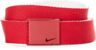 Nike Red & White Single Web Reversible Belt