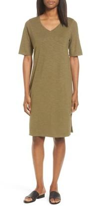 Women's Eileen Fisher Hemp & Organic Cotton Shift Dress $158 thestylecure.com