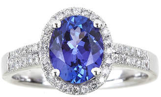 JCPenney FINE JEWELRY LIMITED QUANTITIES Oval Genuine Tanzanite and 1/4 CT. T.W. Diamond Ring