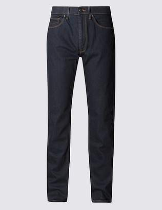 "Marks and Spencer Tapered Fit Stretch Jeans with Stormwearâ""¢"