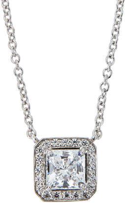 FANTASIA CZ Princess-Cut Pendant Necklace