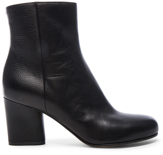 Maison Margiela Embossed Leather Booties $890 thestylecure.com
