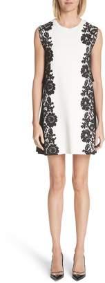 Valentino Lace Side Contrast Shift Dress