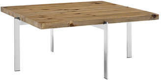 Modway Diverge Pine Wood & Stainless Steel Coffee Table