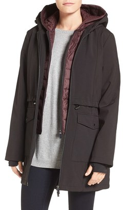 Women's French Connection Three-Quarter Anorak With Removable Bib $210 thestylecure.com
