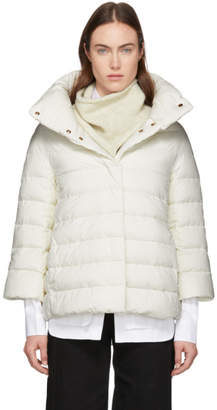 Herno White Down Cocoon Jacket