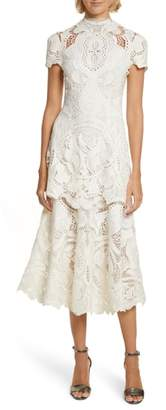Jonathan Simkhai Applique Lace Midi Dress