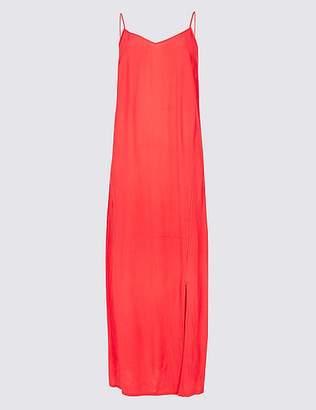 Marks and Spencer Front Split Slip Midi Dress