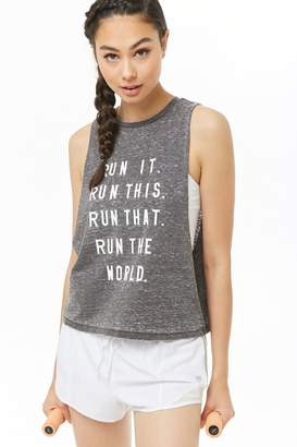 Forever 21 Active Run Graphic Muscle Tee