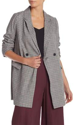 Do & Be Do + Be Peak Lapel Plaid Print Blazer