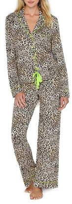 PJ Salvage Neon Nights Leopard Modal Pajama Set