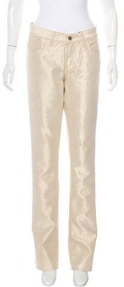 Ralph Lauren Metallic Straight-Leg Jeans w/ Tags $95 thestylecure.com
