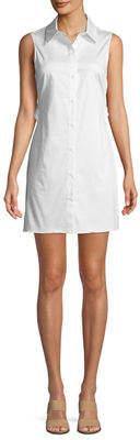 Zac Posen Kathleen Cold-Shoulder Short-Sleeve Shirtdress