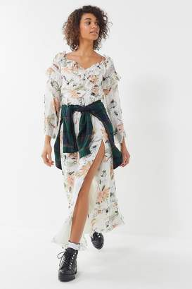 The Jetset Diaries Under The Sun Floral Ruffle Maxi Dress