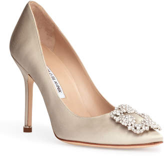 Manolo Blahnik Hangisi 105 cream pumps CLC