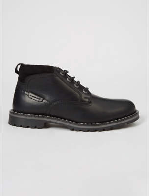 George Black Leather Chukka Ankle Boots