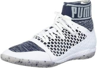 Puma Men's 365 Evoknit Netfit CT Soccer Shoe, White-Peacoat-Quarry
