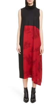 Yohji Yamamoto Y's by Paisley Inset Turtleneck Dress