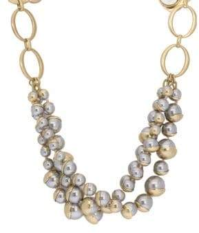 Saachi Half-Moon Faux-Pearl Necklace