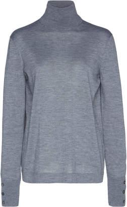 Agnona Eternals Button-Detailed Cashmere Silk Turtleneck