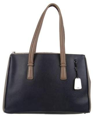 Tumi Leather Colorblock Tote