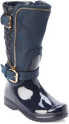 Moto Henry Ferrera (Toddler/Kids Girls) Dark Navy Lined Waterproof Boots