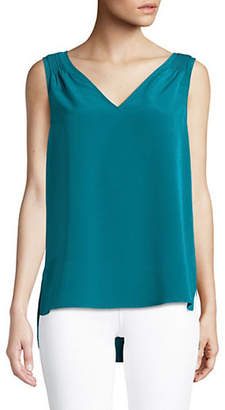 Halston H Hi-lo Tank Top with Pin Tucks