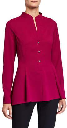 Natori Long-Sleeve Silky Soft Easy Blouse
