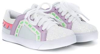 Sophia Webster Mini glitter lace-up sneakers
