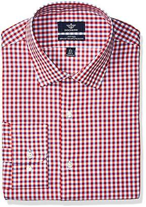 Dockers and Navy Check Fitted Dress Shirt