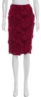 Marc Jacobs Velvet Knee-Length Skirt