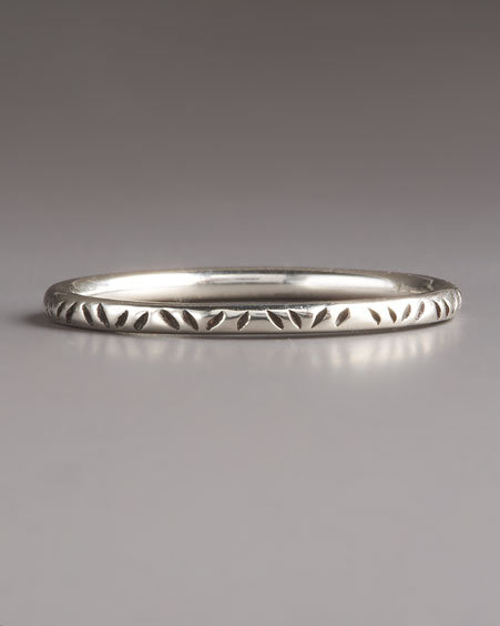 Elizabeth and James Sterling Texture Band Ring