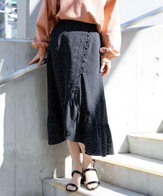 Heather (ヘザー) - クルミボタンドットスカート