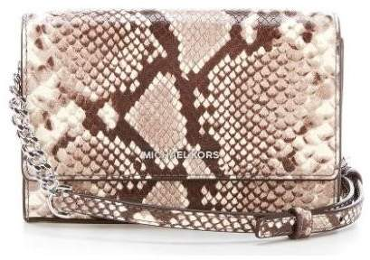 Michael Kors Ruby Snake-Embossed Clutch - Natural - 30F7SR0C2N-270 - ONE COLOR - STYLE