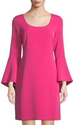 Karl Lagerfeld Paris Bell-Sleeve Shift Dress
