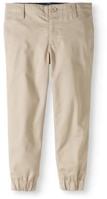 Cherokee Boys' School Uniform Twill Jogger Pants With Adjustable Waistband