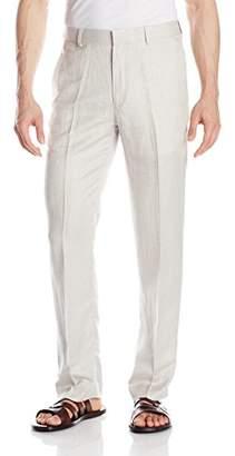 Cubavera Men's Linen-Blend Herringbone-Textured Flat-Front Dress Pant