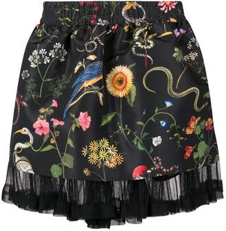 RED Valentino brocade floral a-line skirt