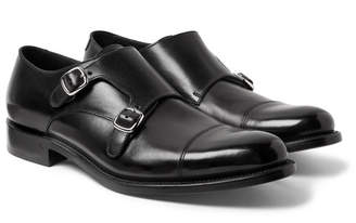 O'Keeffe Bristol Cap-Toe Polished-Leather Monk-Strap Shoes