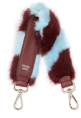 Fendi Strap You mini striped bag strap