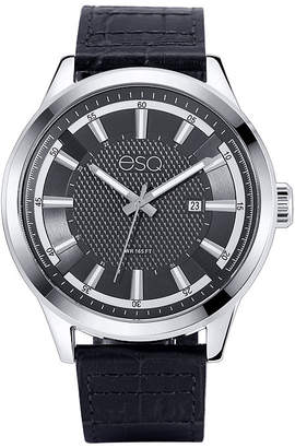 ESQ Mens Black Strap Watch-37esq017201a