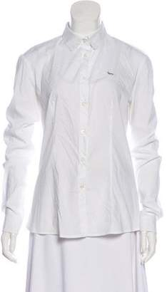 Harmont & Blaine Long Sleeve Button-Up Top