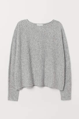 H&M Sweater with Dolman Sleeves - Gray
